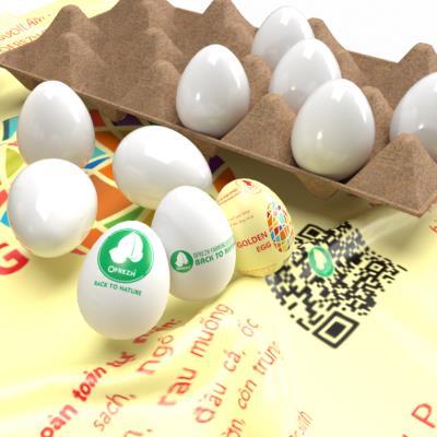 Trứng gà ta lòng vàng 100% hữu cơ