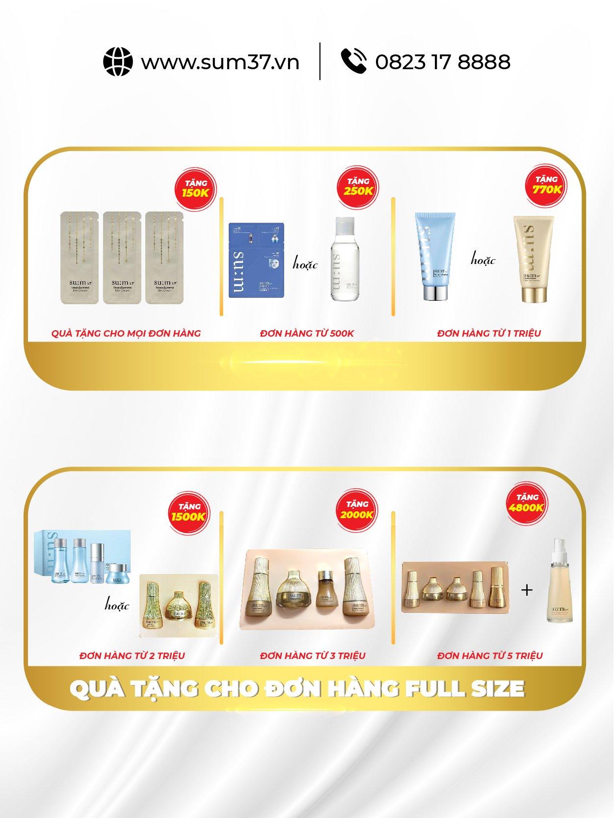 Set chống nắng dưỡng trắng Sum37 Multi Effect EX SPF50+/PA+++