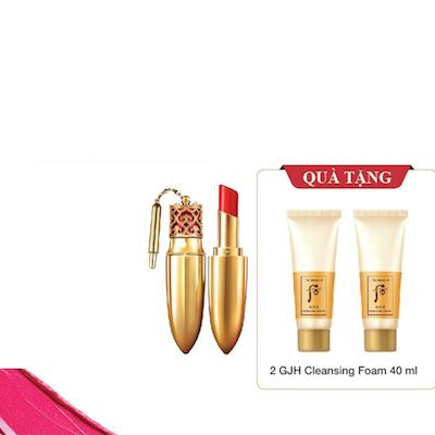 Whoo Luxury Lip Rouge Tặng kèm Cleanser 2pcs