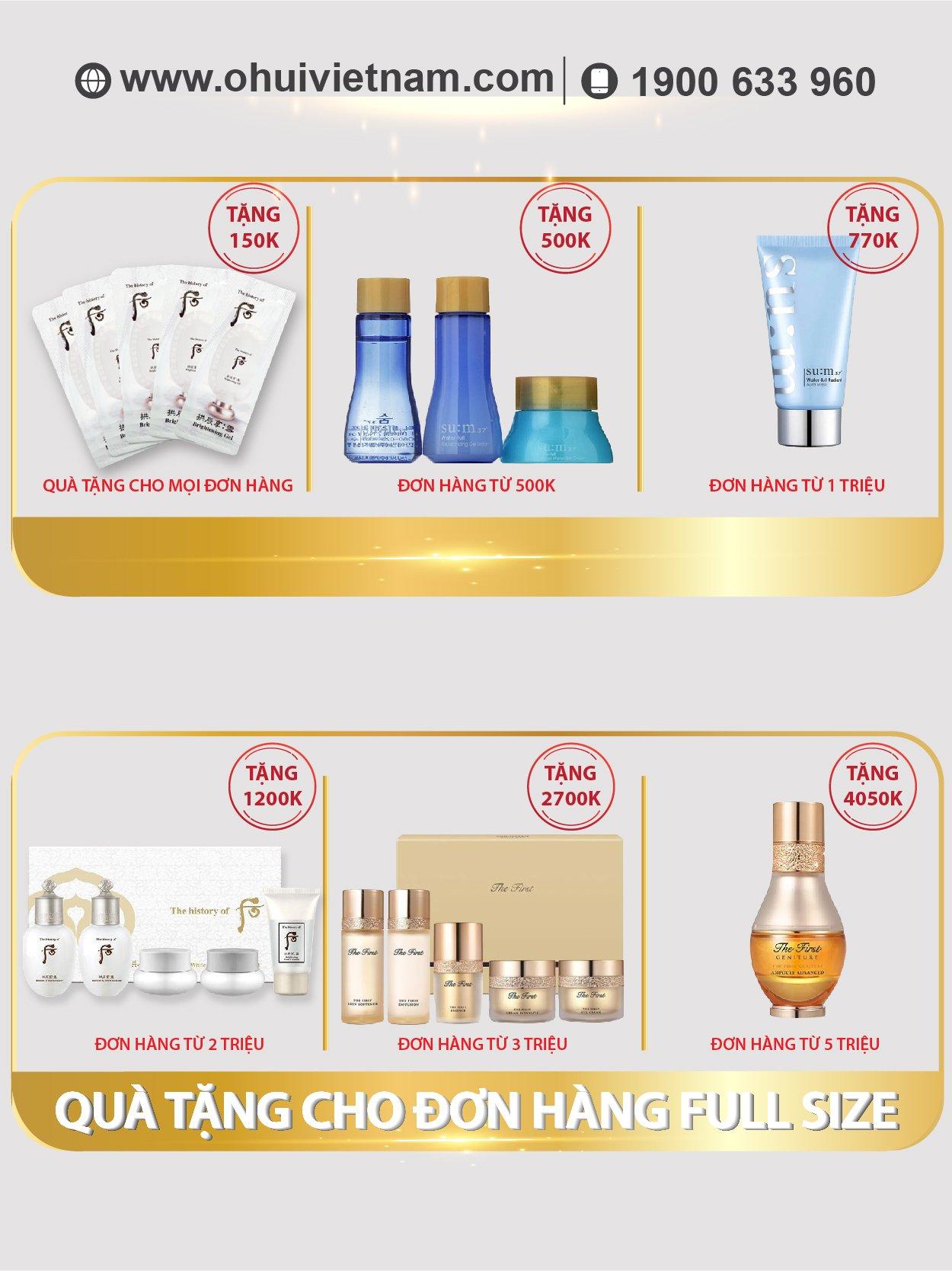 Whoo Wrinkle Sun Cream Kem chống nắng cải thiện nếp nhăn  SPF50+/PA++++